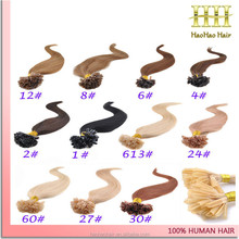 High quality cheap and fine natural raw hair 100 brazilian hair extensions with turkey