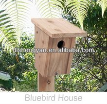 Wooden Bird House/Cedar Bluebird House
