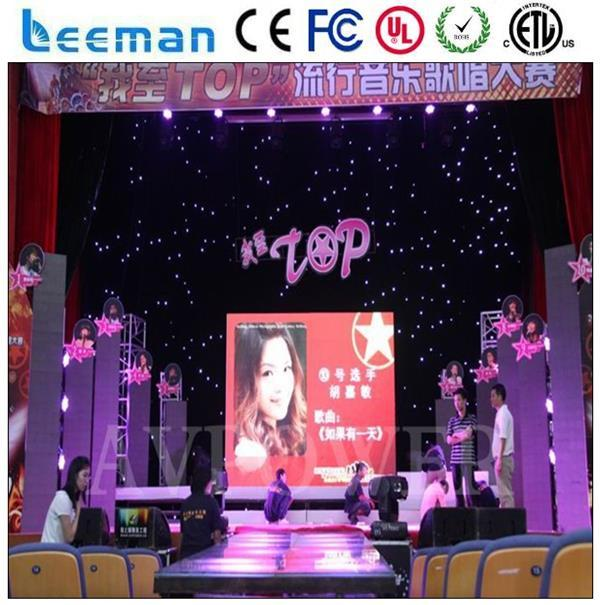 flexable led curtain display p7.62 indoor full color led display module