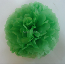 paper crafts hanging flower ball for wedding 2015 tissue paper pom poms green
