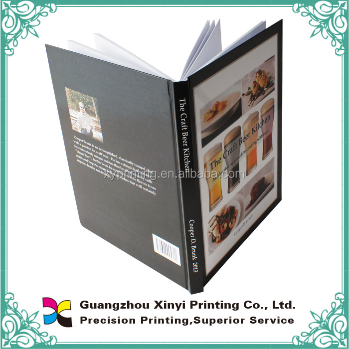 Cheap hard cover book with square case bound binding in professional printing factory