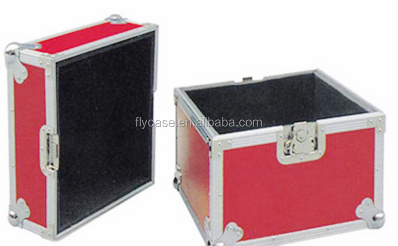 Aluminum trolley leather pilot case/wheeled aluminum trolley case