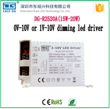 R2520 4-20W 0-10V 10V PWM dimming led driver with constant current 350ma 500ma 700ma output voltage 9-42V for tube from China
