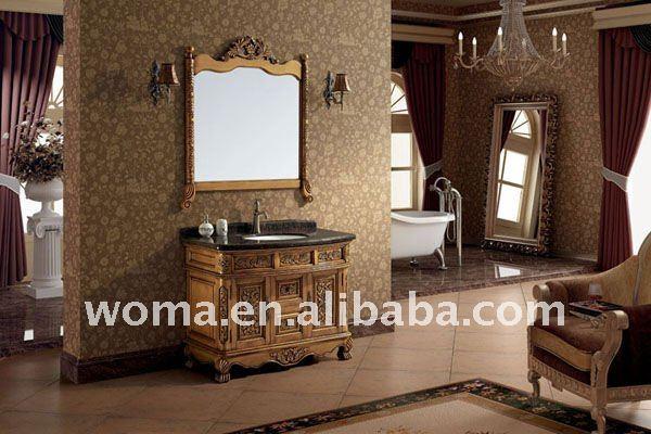 Mobiletto del bagno classico 3080 antico colore dorato - Mobiletto del bagno ...