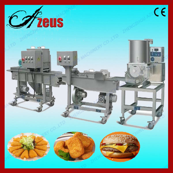 Automatic multi-function frozen chicken patties producing line
