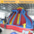 Outdoor Double Lane Inflatable Dry Slides For Kids Amusement
