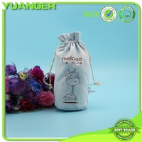 Light Blue Round Wholesale Canvas Wine Bag Suppier