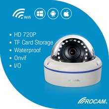 Ipad/iphone/PC viewable camera, Two-way audio network cameras, Fish eye Dome camera