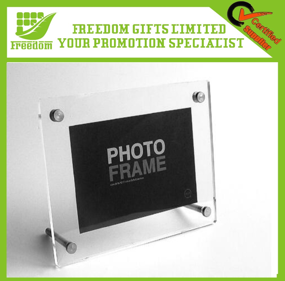 Cheap Acrylic Cube Photo Frames/Pictures frame with magnetic