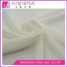 14mm PFD white stretch elastic silk crepe de chine CDC fabric for plain dyeing or printing,wedding dresses,etc