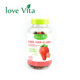 Sweet Strawberry Gift Wedding Gummy Fruit Juice Soft Candy With Chia Seed
