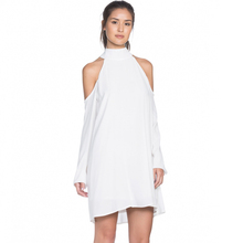 OEM Latest Mini Dress Designs White Long Sleeve Halter One Piece Dress Casual Stylish