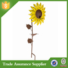 2015 hot Sale garden decoration metal sunflower garden stakes