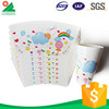 Customized printed disposable paper cup holder with handle fan