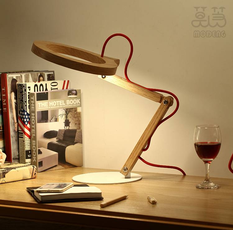 mfga Touch control led wooden Table Lamps Reading Lamps dimmable handmade led protect eyes lighting