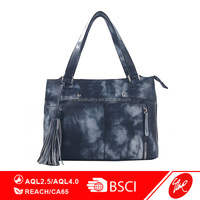 New Designer Durable Hot Selling Ladies Canvas Recycle Jean Blue Tote Handbag