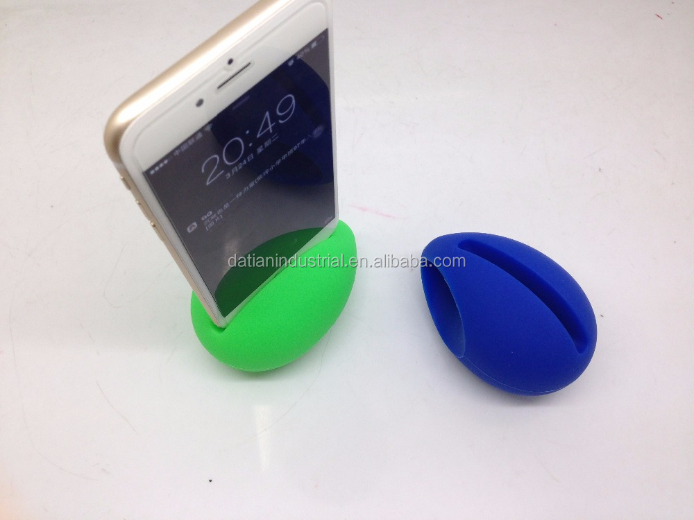 silicone horn stand speaker for iphone/silicone rubber wireless trumpet horn stand mini amplifier megaphone loudspeaker
