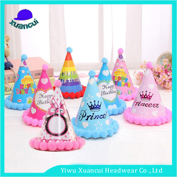 Custom made Paper Happy party hat birthday Cap 18th birthday hats to party hat