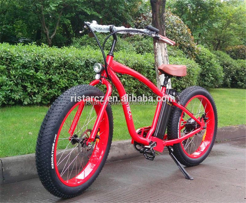 Newest Chopper 48V 500W fat tire beach cruiser electric bicycle with Al Alloy frame