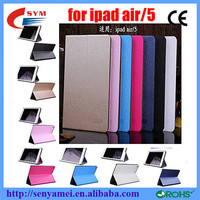 Top selling gold medal case for ipad air/5with auto sleep fuction PU leather