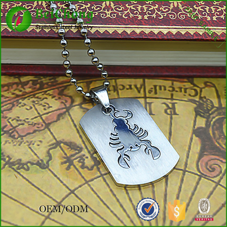 Jewelry & Pendant Stainless Steel Scorpion Pendant Blank Wholesale D3-0228