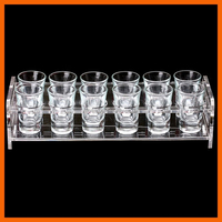 High quality low price acrylic rotating shot glass display stand