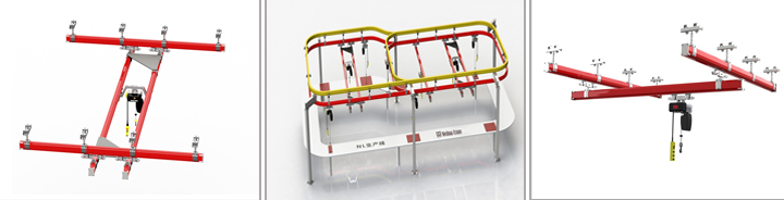 Ceiling Mounted Light Track Flexible Rail Crane System 1 ton 2 ton 3 ton