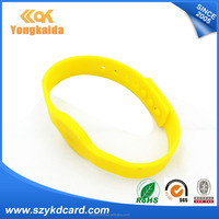 Active Tag rfid LF/HF/UHF chip Rfid silicone wristband