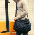 2377 Black Customized Durable Canvas Travel Shoulder Bag for Men