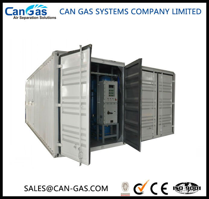 Portable containerized oxygen plant