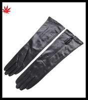 2015 hot sale leather gloves Ladies long leather gloves