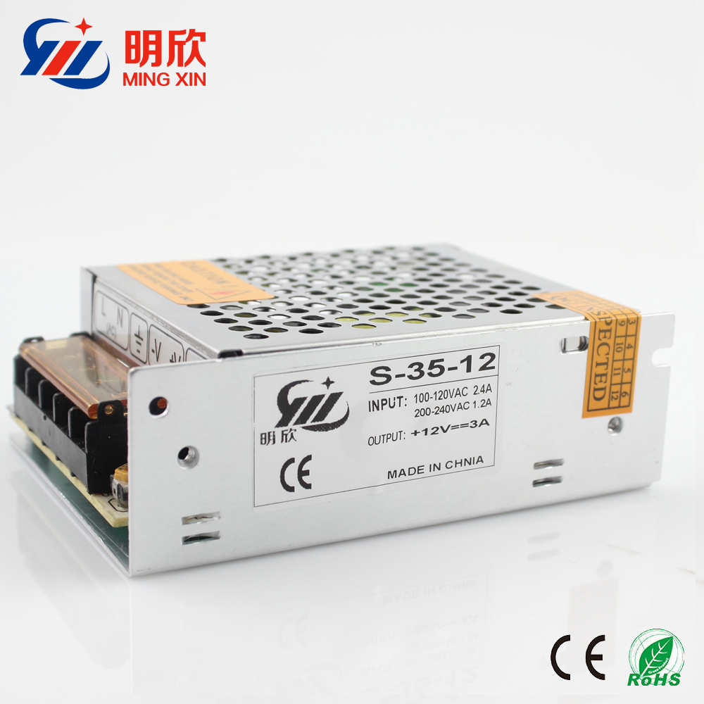 dc 12v single output type 40W smd led strip power supply