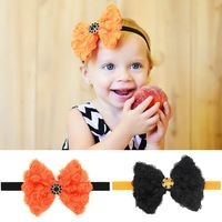 Halloween Diamond Butterfly baby hair band elastic headband hair accessories and children