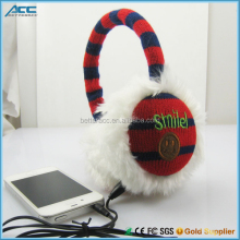 Child Cute Plush Knitted Fashion Earmuff Headphone , Cheap Price, Promotion