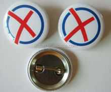 cheap custom promotional tin button badge 58mm