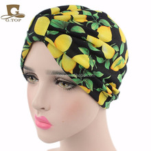 NEW Parent-Child Floral fruit print Soft cotton Turban Headband Head Wrap