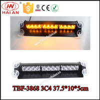 12V Security Car Led Windshield Warning Dash Lights/Strobe Amber Dash Emergency Slipt Light TBF-3868 3C4
