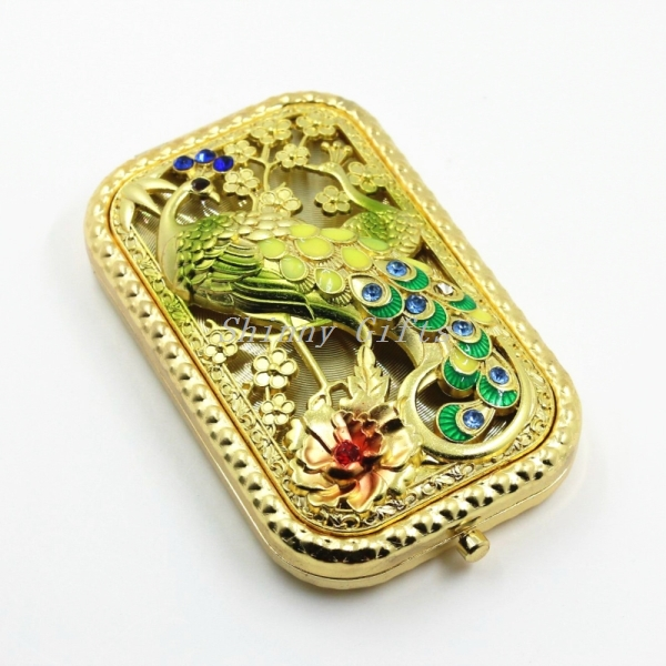 Party Gifts Women's Fashion Metal Peacock Metal Mirror