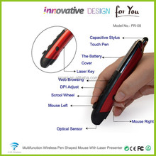 High-tech Electronic Business Gift Items For Business Men Pen Mouse With PPT Laser From Shenzhen Paypal Supplier