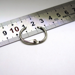 25.4mm Metal loose leaf hinged binder rings scrapbooking craft ring