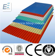 Color corrugated metal roofing tiles
