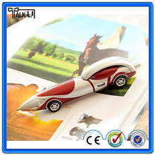 Novelty racing car shape moving wheels, working ball pen