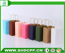 china alibaba printed shopping kraft paper bag with handle