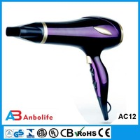 Anbolife blow dryer 220V new style top quality plastic mini professional over-heating hotel 1200w low noise hair dryer