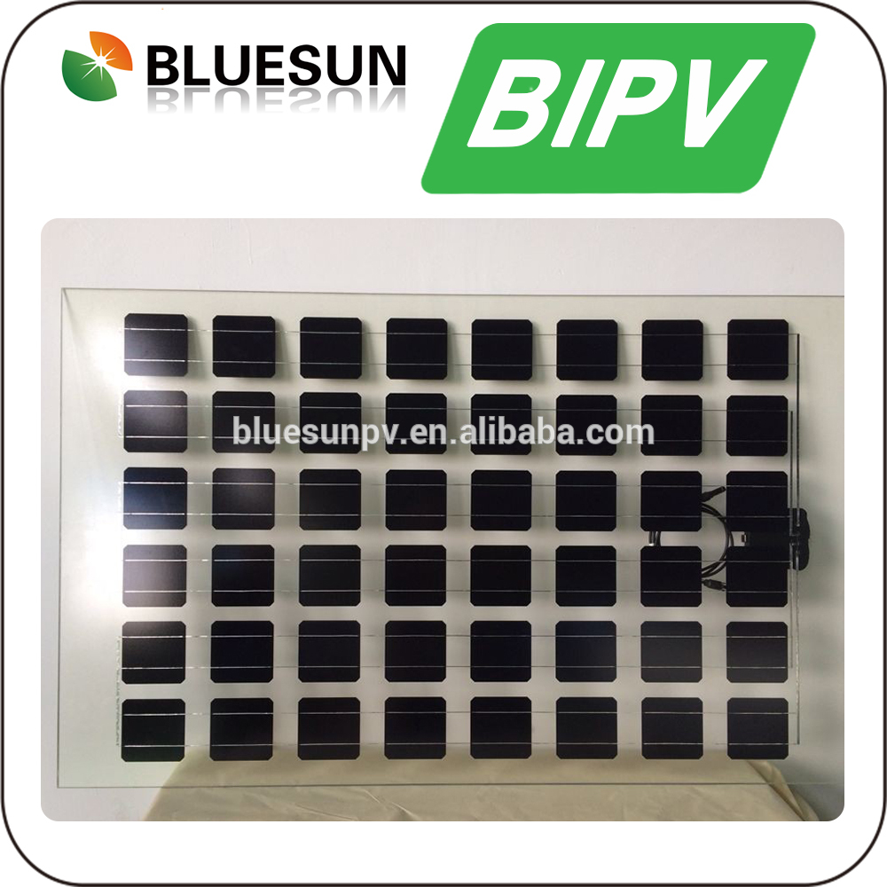 Glass Solar Panels BIPV 160W 200W Transparent Buildings PV Solar Panel