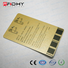 Stylish RFID blocking plastic credit card protector with 2 sided printing
