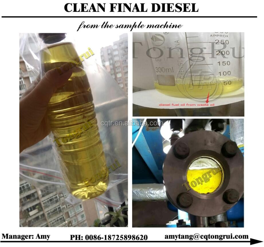 Industrial engine oil to diesel convert distillation refinery equipment motor oil recycling machine