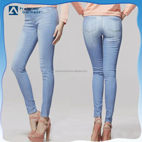 OEM women wholesale stretch jeans sexy tight jeans pants
