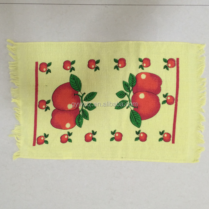 Silk screen printed tea towels with client designs