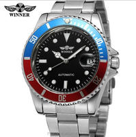 Classic Men Brand Watches Stainless Steel Mechanical Automatic Watches Winner Watch Silver
